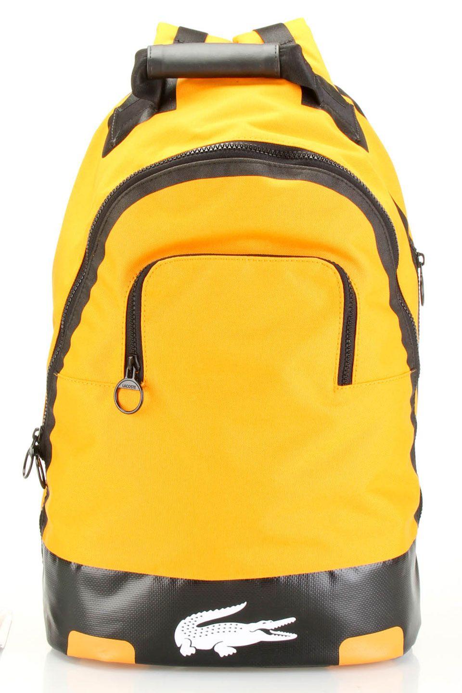 b9a576291 Lacoste Logo Backpack In Dark Cheddar   Backpack   Lacoste backpack ...