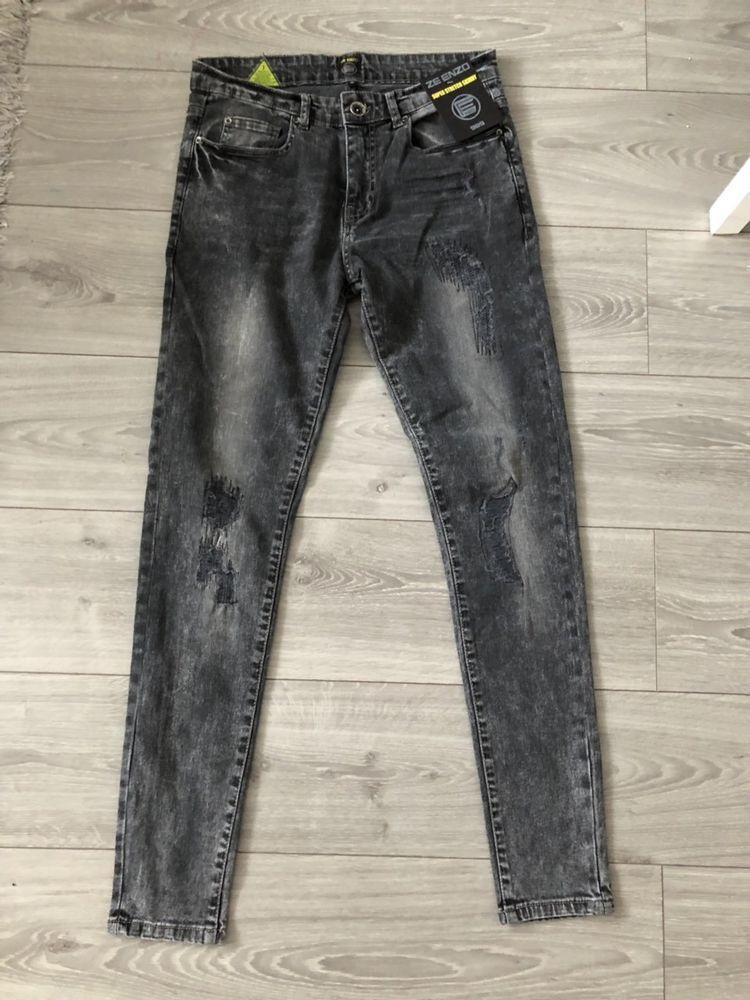 ecaede93 New ENZO Mens Skinny Super Stretch Fit Ripped Denim Jeans STYLE EZ361 #ENZO  #SkinnySlim