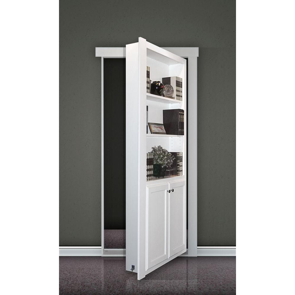 The Murphy Door 32 In. X 80 In. Flush Mount Unassembled Paint Grade MDF  Unfinished Universal Solid Core Interior Bookcase Door