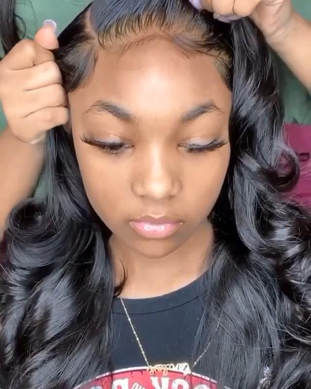 Transparent Lace Body Wave 100% Human Lace Wig 13x6 Front Lace Wig, 200% Density