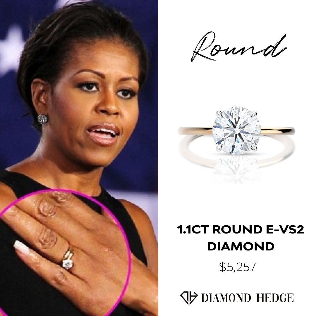 Michelle Obama Engagement Ring In 2020 Diamond Comparison Lab Grown Diamonds Engagement Engagement Rings