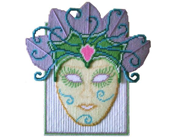 PDF FORMAT Whimsical Feather Mask Wall Hanging by by kathybarwick, $3.20