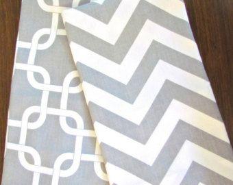 GRAY CHEVRON TEA Towels Set of 2 Chevron Tea Towel Gray Hand Towels