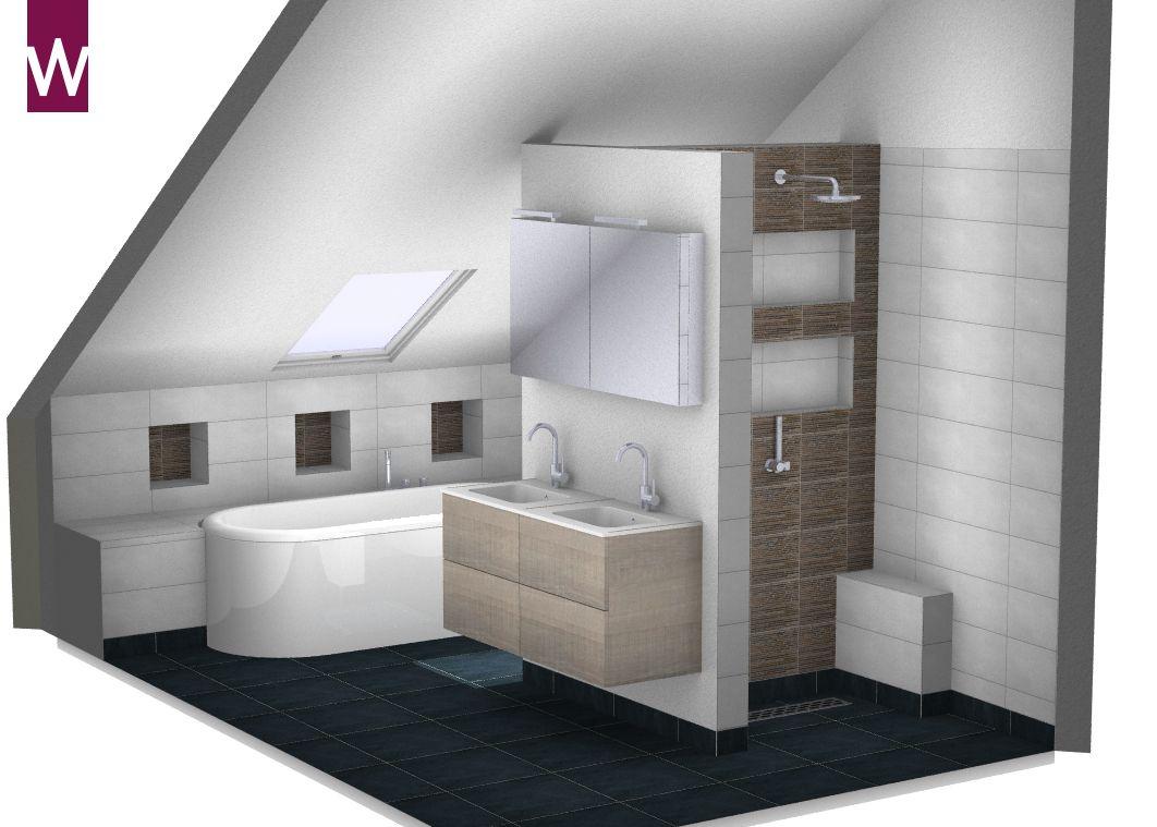 badkamer ontwerp in 3d