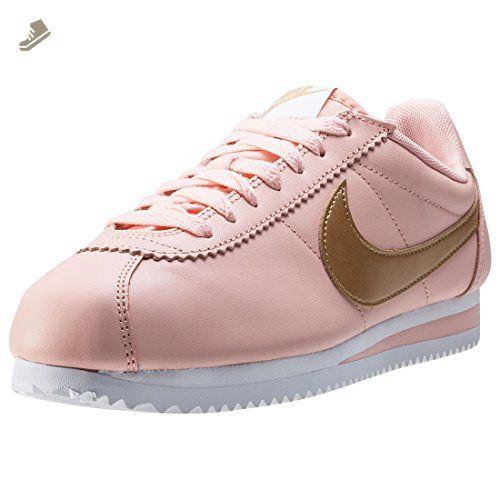 get cheap 002f1 7fe1f Nike Classic Cortez Leather Womens Trainers Pink Peach - 6.5 ...