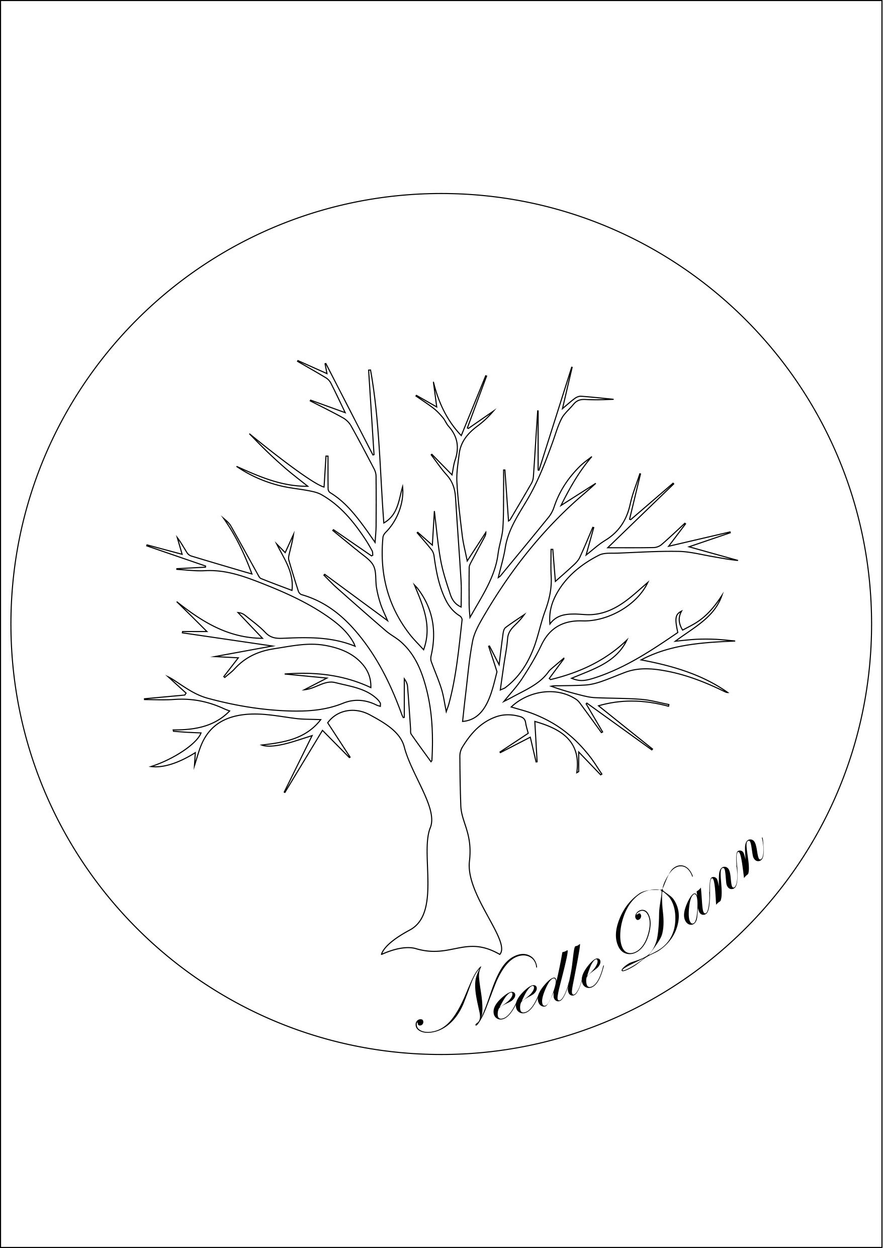 Outline Cherry Blossom Tree Embroidery Pattern Free Printable A3 French Knot Embroidery Hand Embroidery Patterns Flowers Embroidery Patterns Free