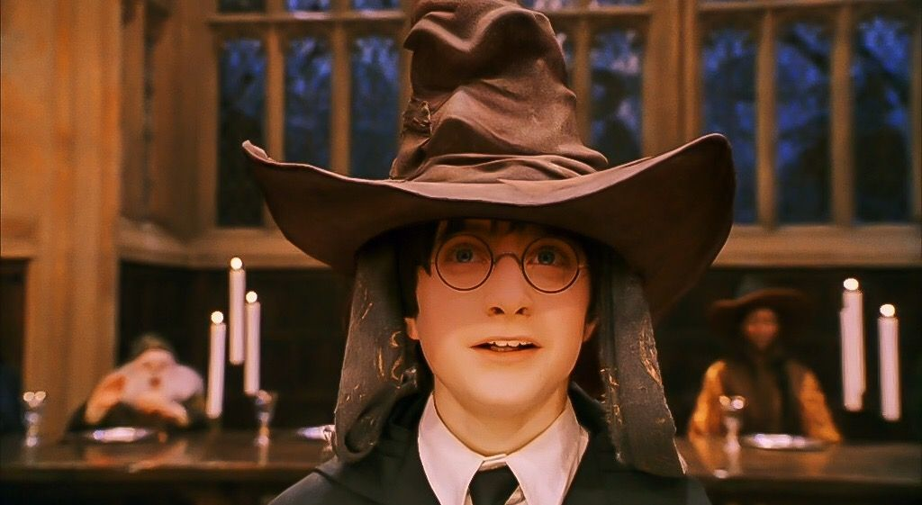 Harry Potter And The Sorcerer S Stone Sorting Hat Gryffindor Sorting Hat Harry Potter Daniel Radcliffe