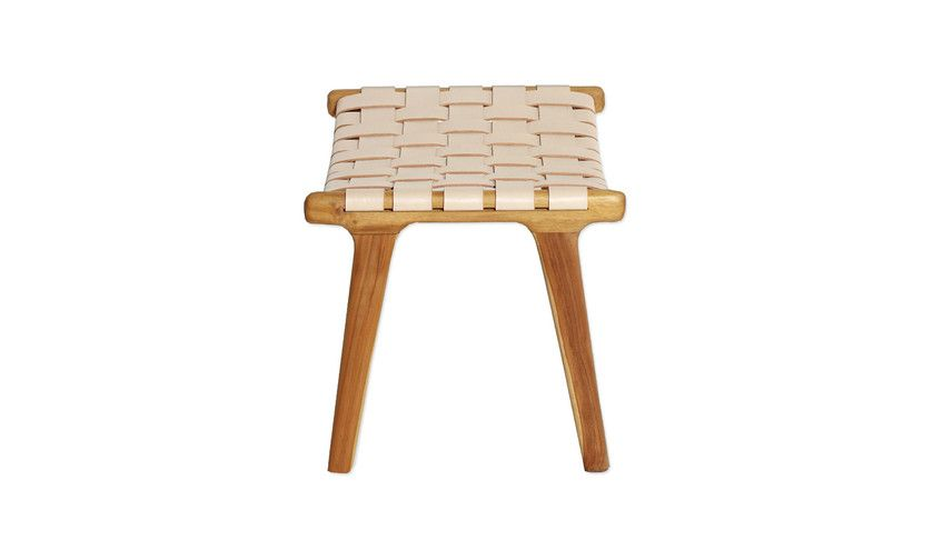 Enjoyable Williams Road Malboro Woven Leather Stool Natural Blush Machost Co Dining Chair Design Ideas Machostcouk