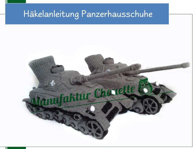 Häkelanleitungen Panzerhausschuhe Häkelanleitung Ein