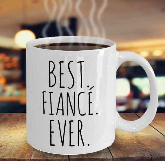 Valentines Gift for Fiance, Best Fiance Ever, Coffee Mug, Boyfriend Gift, Girlfriend Gift, Minimalist, Fiance Gift Ideas