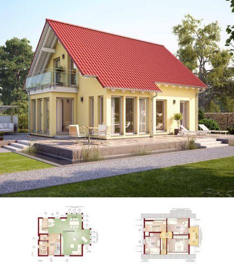 Captivating Modernes EINFAMILIENHAUS Solution 124 V2 Living Haus * Fertighaus Ideen  Grundriss 4 Zimmer Satteldach Fassade