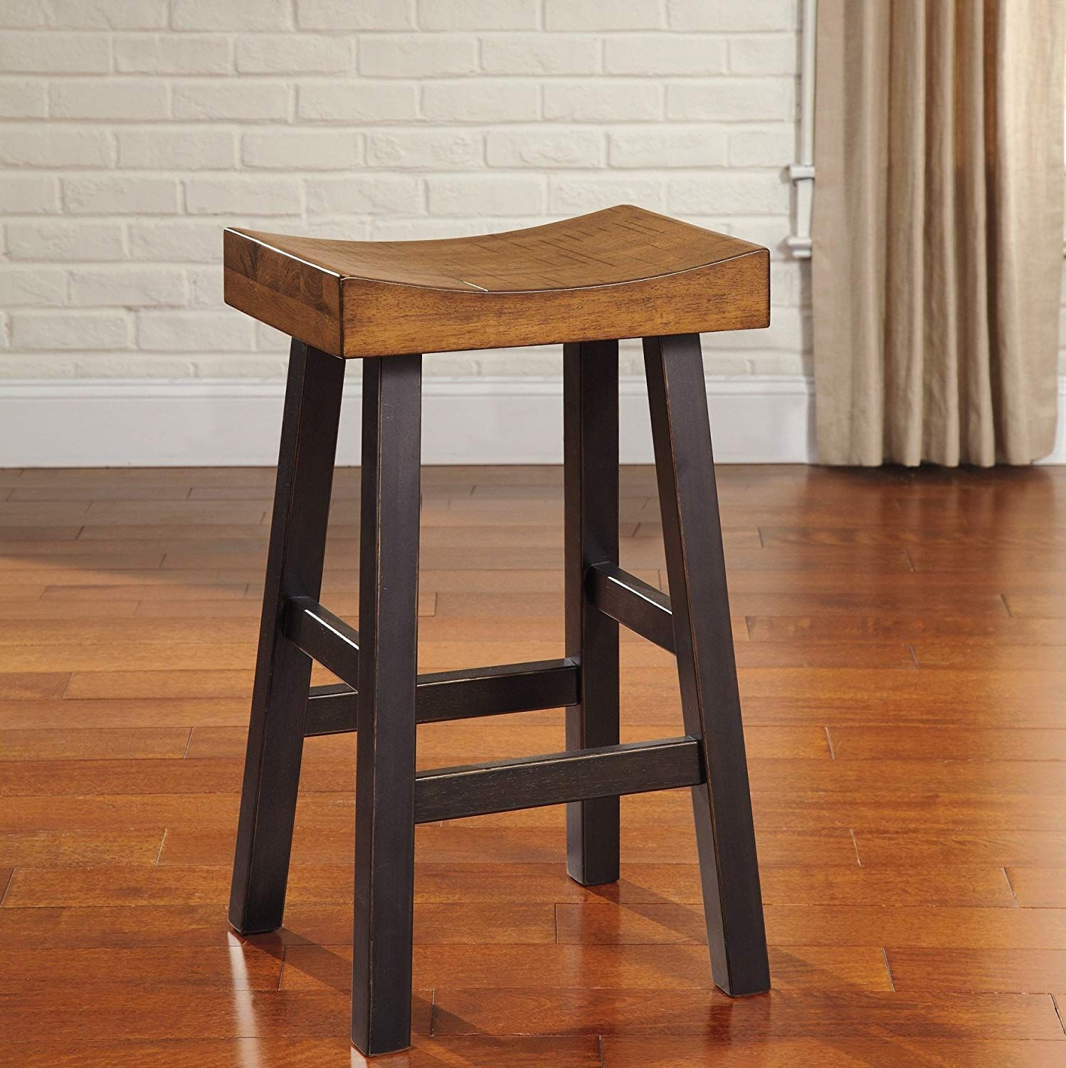 Strange Glasco Solid Wood Two Tone Tall Bar Height Stools Set Of 2 Dailytribune Chair Design For Home Dailytribuneorg