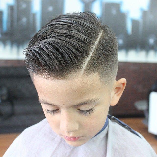 slick haircut with a quiff … | boy haircut | Boy h…