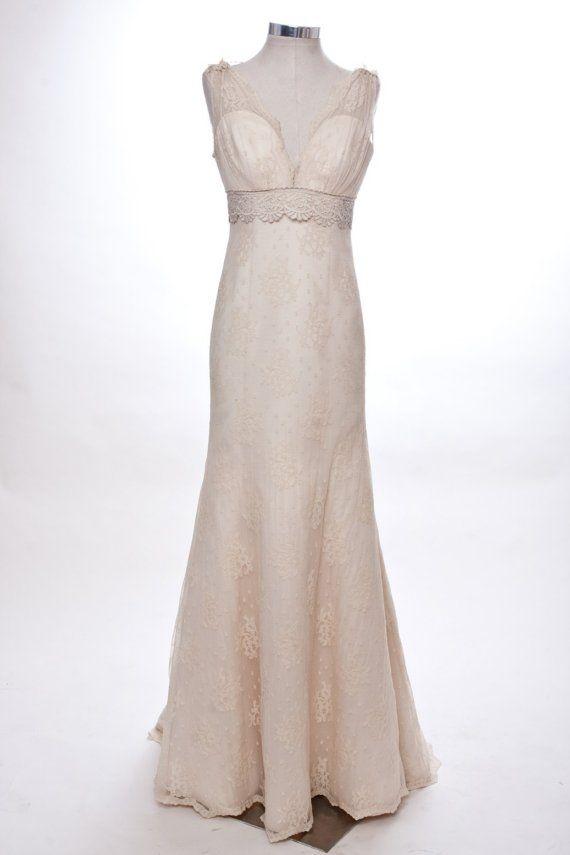 MIGNONNE lace wedding dress etsy   Dresses   Pinterest   Lace ...