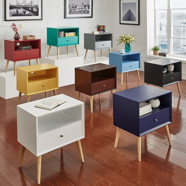 Luxury MID CENTURY LIVING Marin Danish Modern 1 drawer Storage Accent Side Table Plan - Lovely side table with drawer Idea