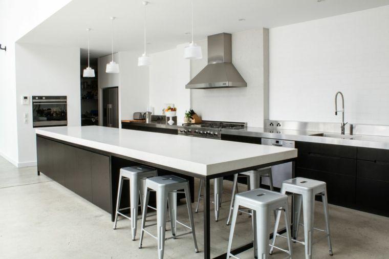 ampia e luminosa soluzione open space, immagini cucine ...