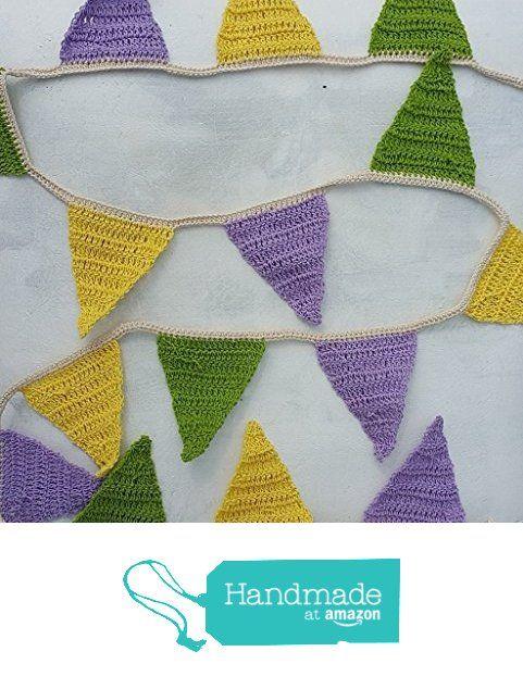 Handmade_Triangle crochet bunting_garland from nabistyle http://www.amazon.com/dp/B0168V9AJQ/ref=hnd_sw_r_pi_dp_-5zowb0F44M8N #handmadeatamazon