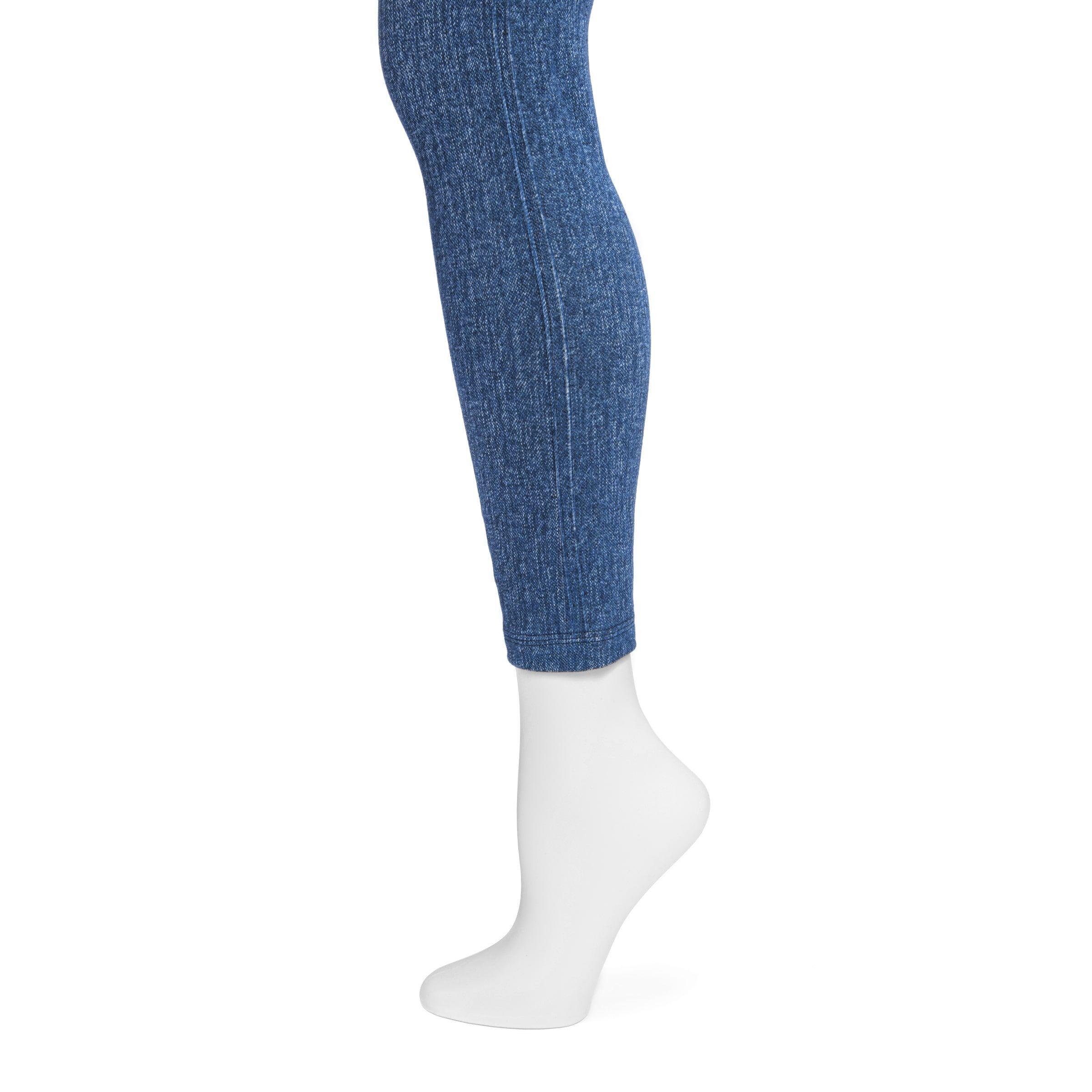 7bf48bcf6afd39 MUK Luks Women's Navy (Blue) Printed Leggings (M/L Navy), Size: Medium/Large