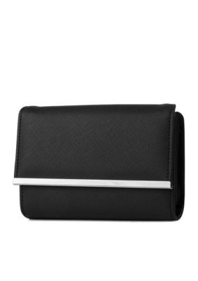 New Directions Saffiano Amsterdam Wallet - Black - One Size