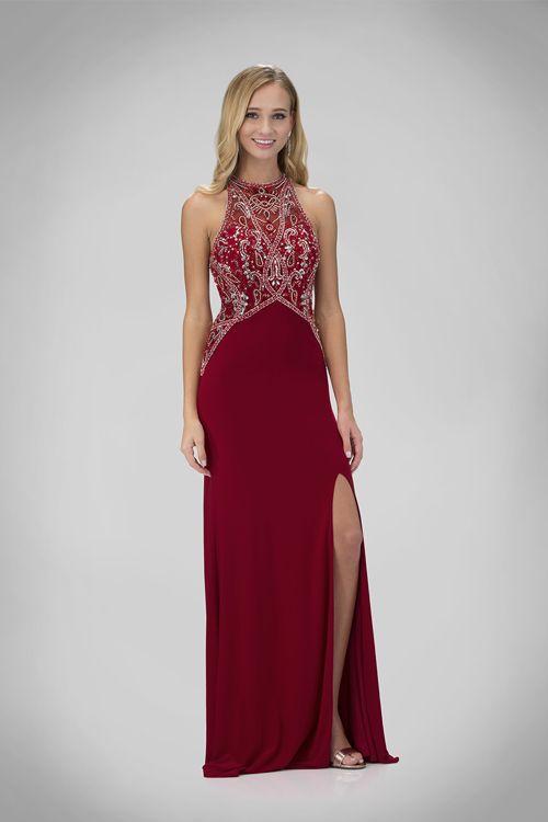 515cedc13aa7 Červené spoločenské šaty s rozparkom na reprezentačný ples