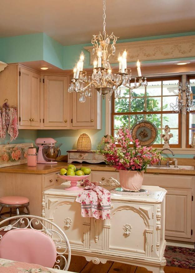Vintage Shabby Chic Kitchen Decor Kitchen