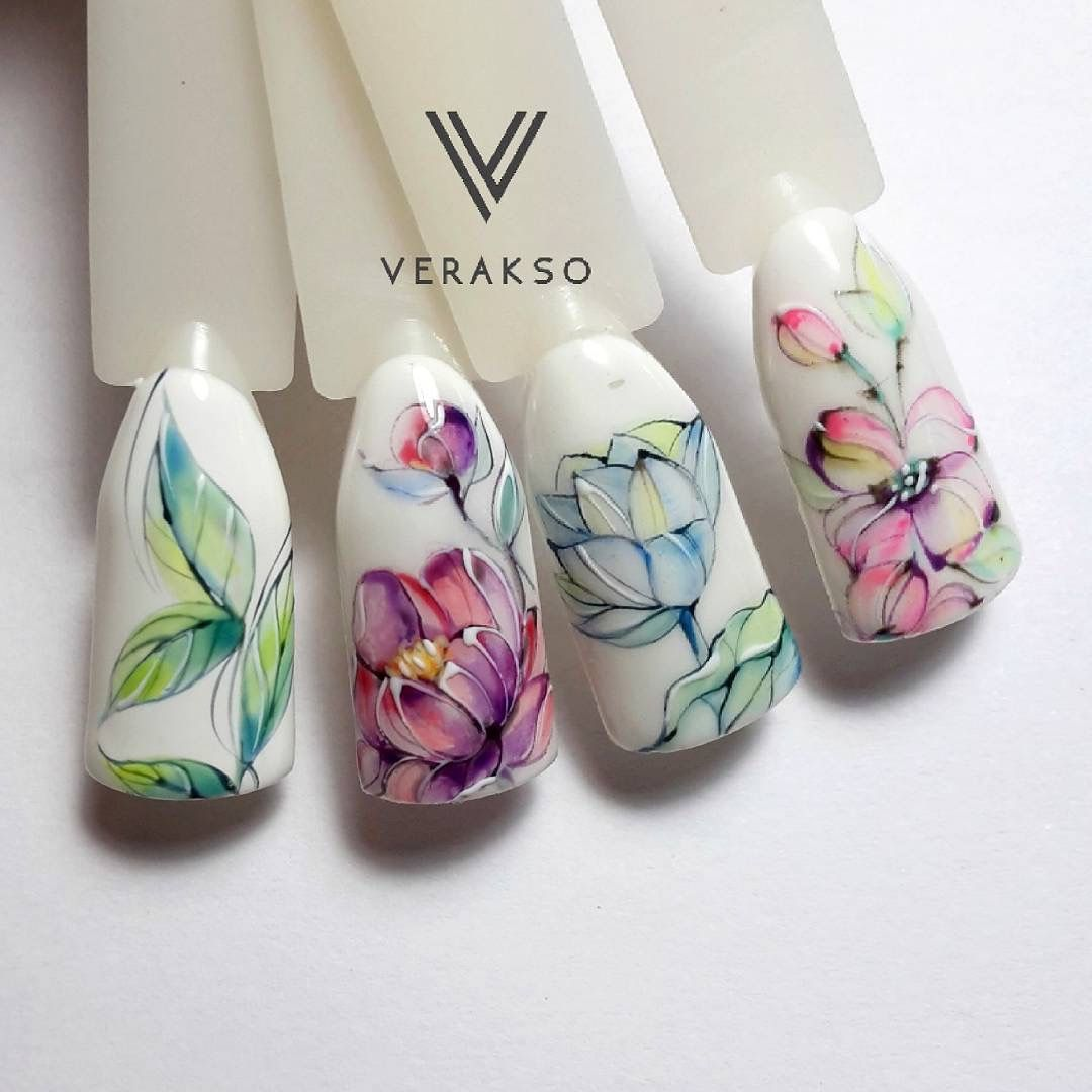 Pin by Orsik Nataliia on Акварель | Pinterest | Manicure and Nails ...