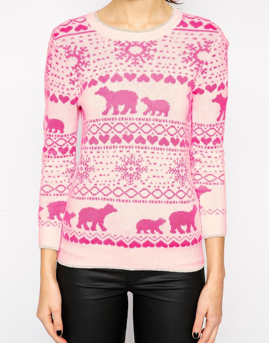 Ted Baker Fair Isle Sweater in Neon Pink | fairly fair isle ...