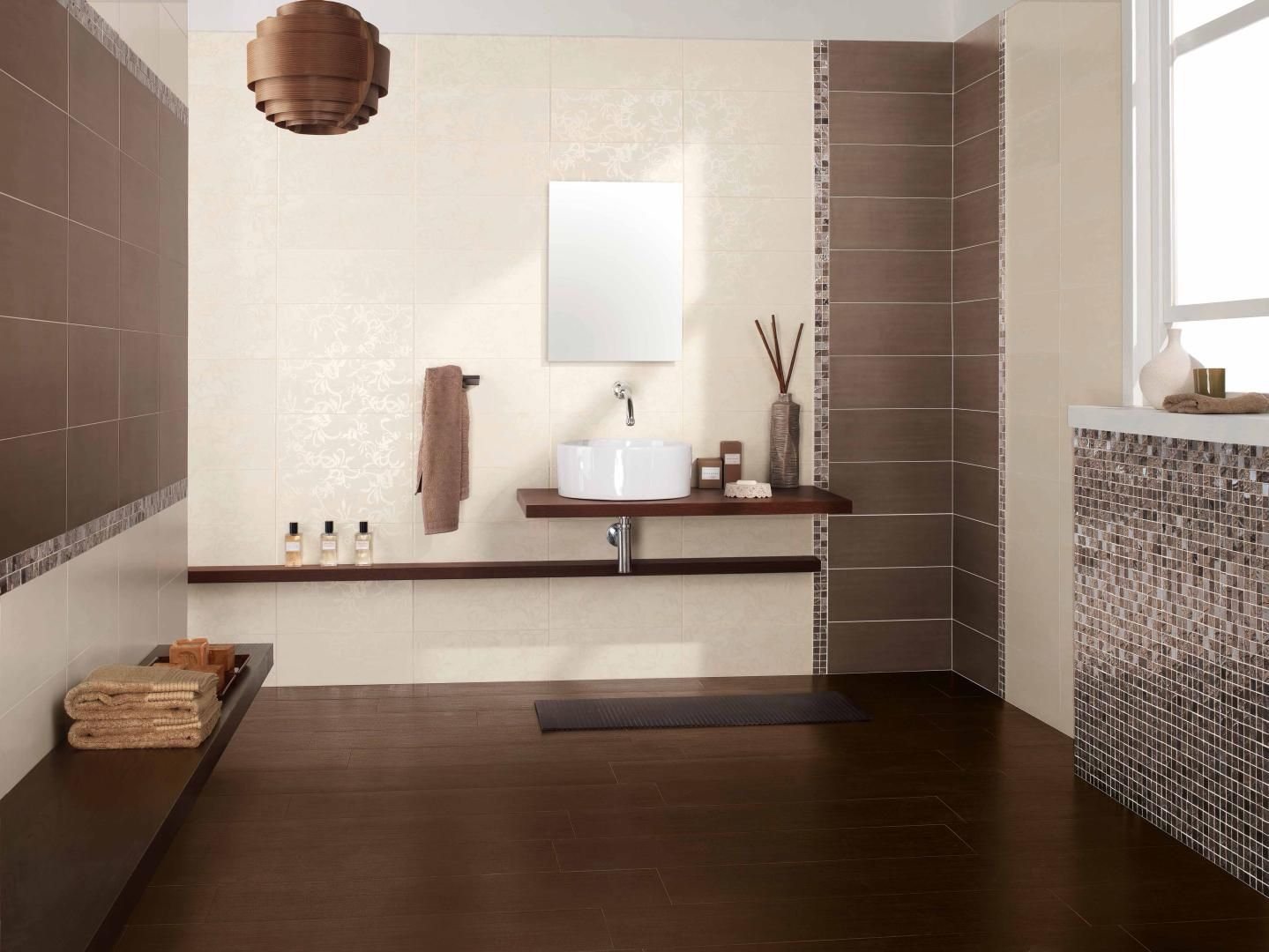 soluzione rivestimento bagno, con doccia senza mosaico ma solo in ... - Arredo Bagno Con Mosaico