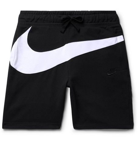 f4df374674 NIKE SLIM-FIT LOGO-PANELLED LOOPBACK COTTON-BLEND JERSEY SHORTS. #nike  #cloth