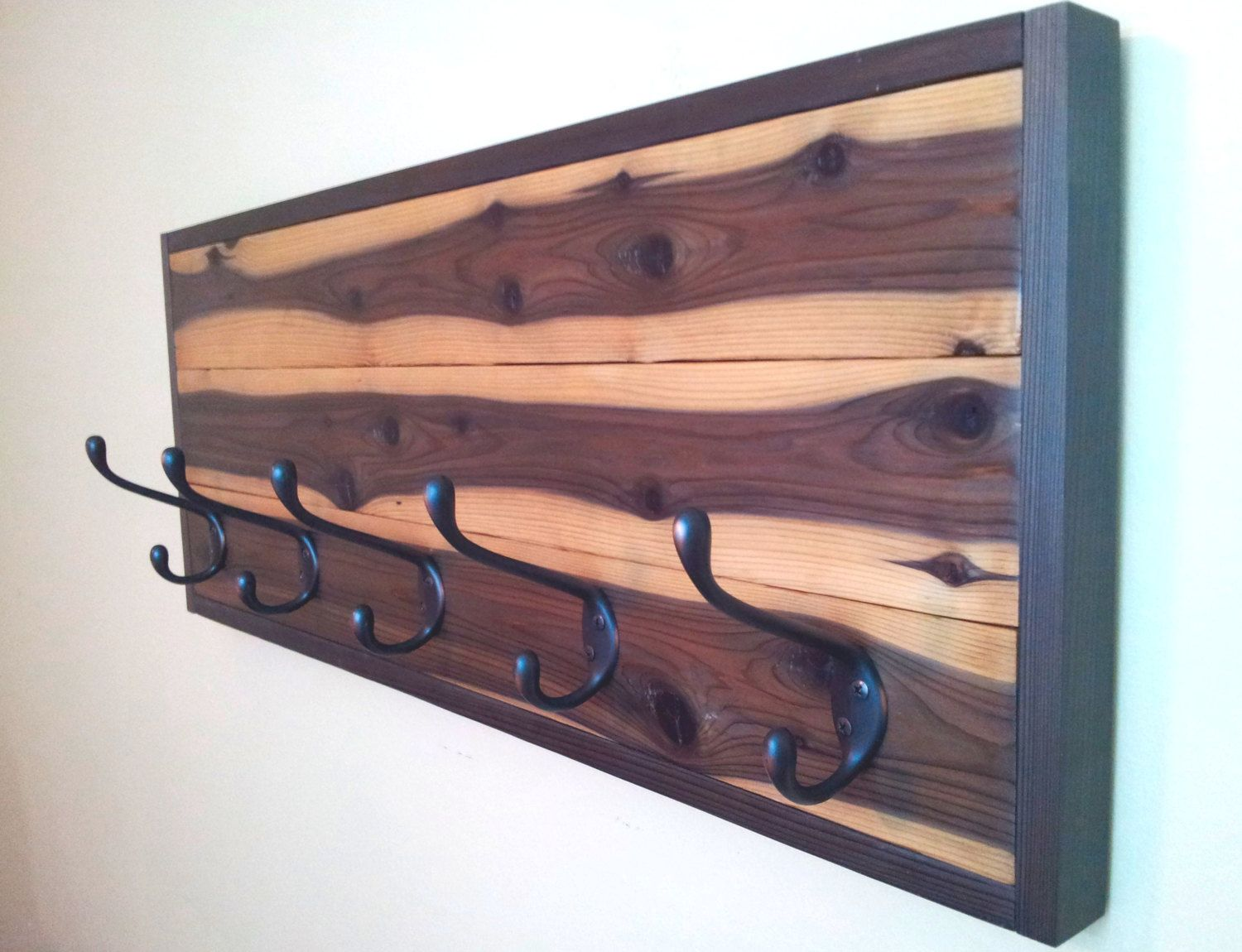Rustic Rare Grain Cedar Coat Rack with 5 Large Oil by CedarOaks, $115.00