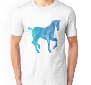 T-Shirt Blue Watercolor Horse