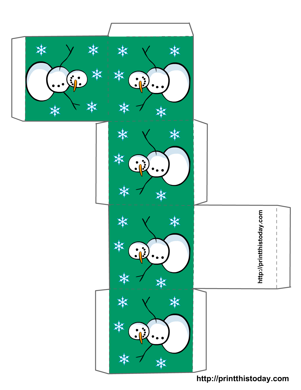 Printable Christmas Boxes