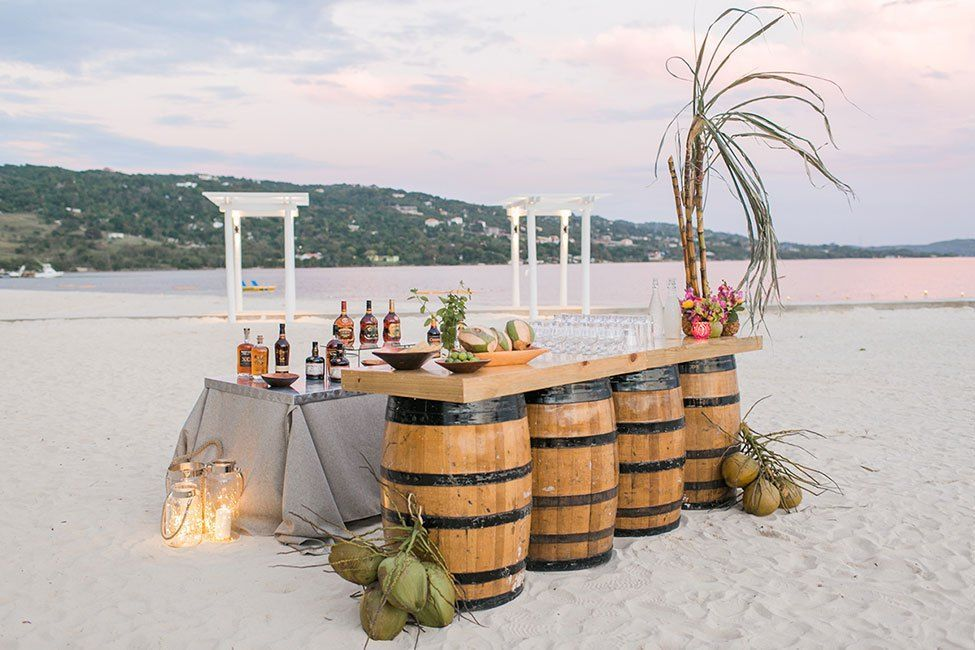 the perfect beach side bar setup at south coast jamaica aisle to
