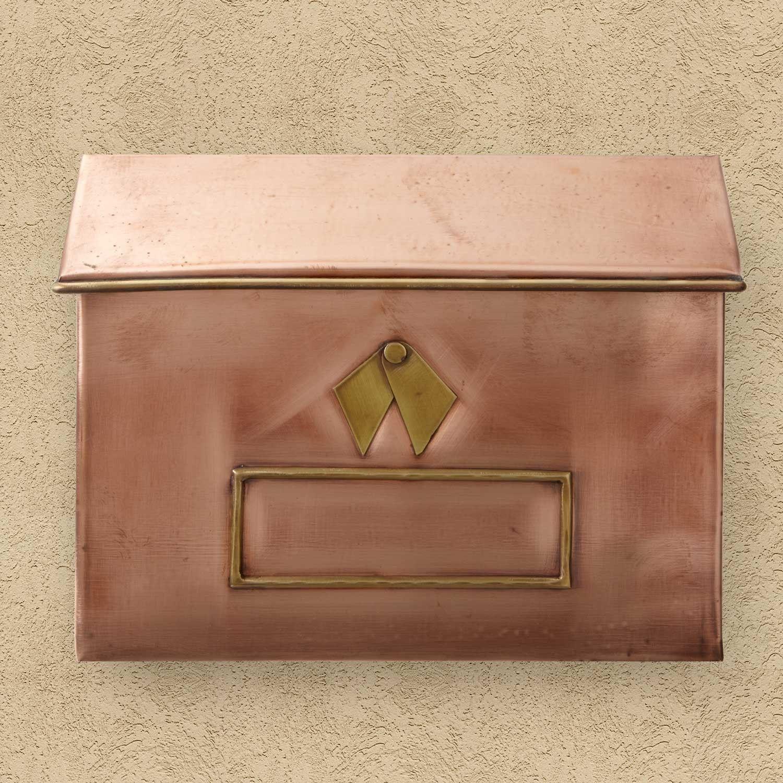 Brexton Horizontal WallMount Copper Mailbox Copper mailbox Wall