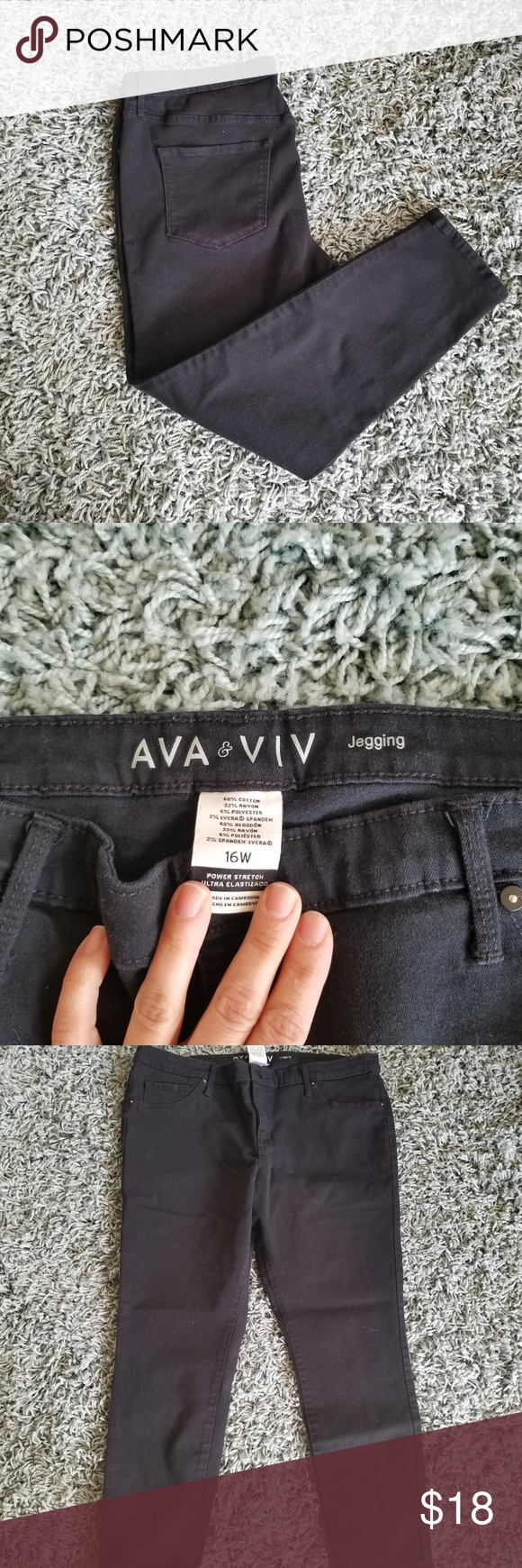 38e4bfa3178 Black Ava   Viv jeggings size 16W Used and in great condition black jeggings  by ava   viv! Size 16W. 26
