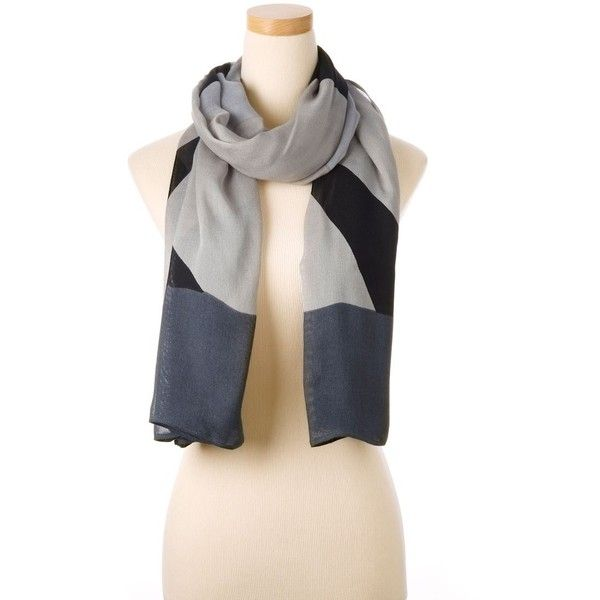 Grey Multi Vail Wearable Art Scarf ($155) found on Polyvore