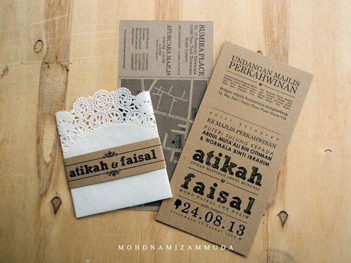 Idea Kahwin 10 Design Kad Kahwin Unik 2014 Ikahwin Kad Kahwin Wedding Cards Wedding Invitation Cards