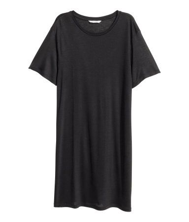 finest selection 5f99d 5a772 T-Shirt-Kleid | Schwarz | Ladies | H&M DE | Mode für Frauen ...