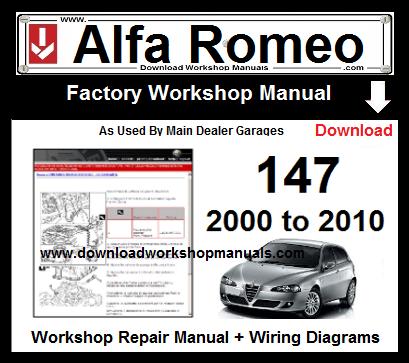 Alfa Romeo 147 Workshop Repair Manual & Wiring Diagrams 2000 ... on