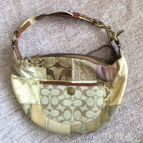Coach Patchwork Hobo Good condition, on small pen mark on the back and inside. Coach Bags Hobos
