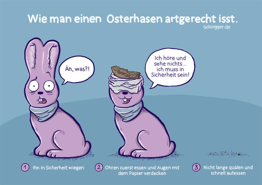 Cartoon Zu Ostern Wie Man Einen Osterhasen Artgerecht Isst By