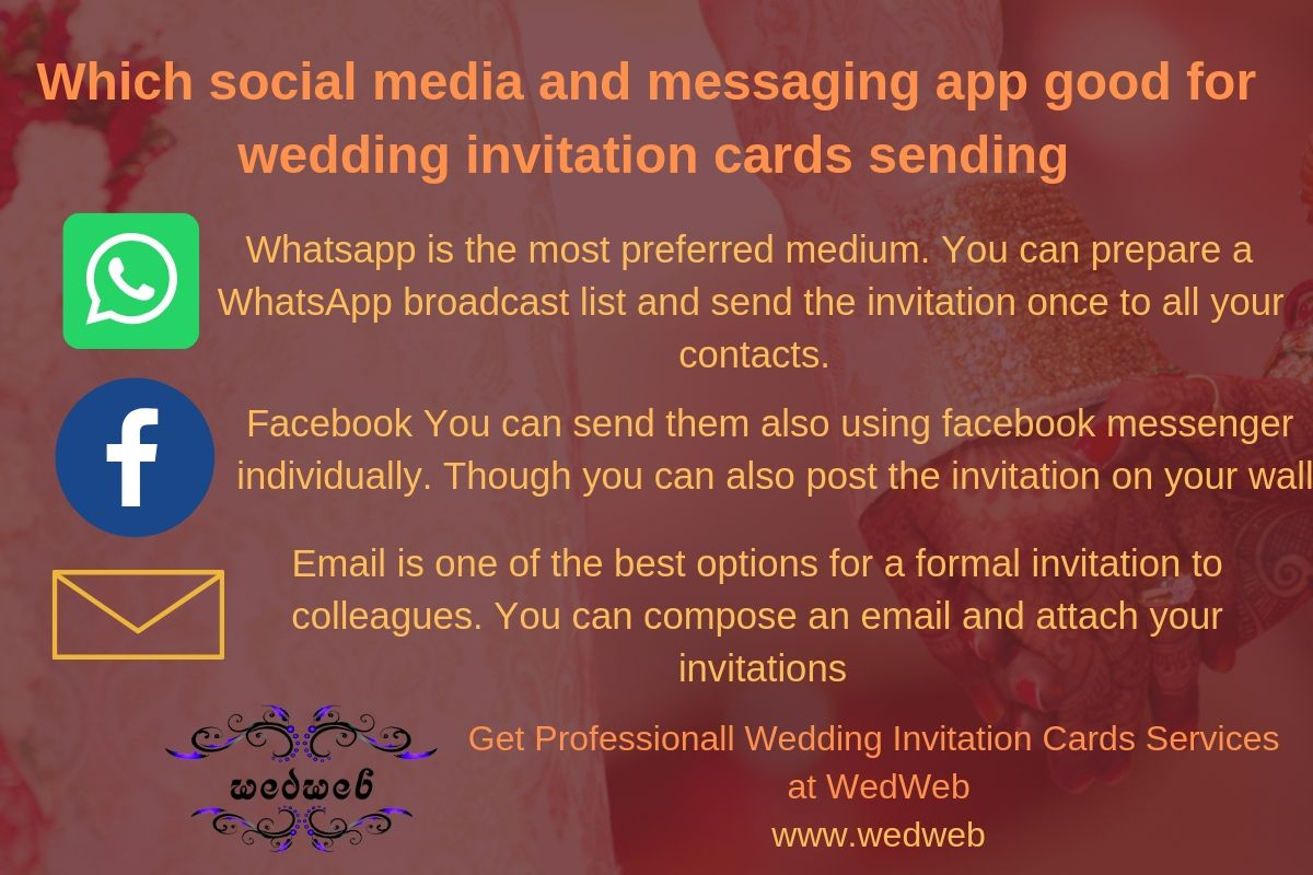 Which Social Media And Messaging App Good For Wedding