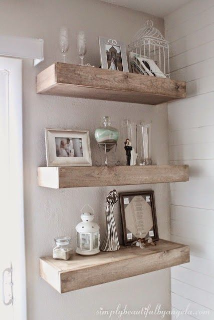 shabby chic floating shelves the shabby nest shabby chic decor rh pinterest com