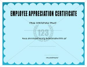 Employee certificate archives 123 certificate templates 123 employee recognition certificate template appreciation free certificates for employees editable samples best free home design idea inspiration yelopaper Image collections
