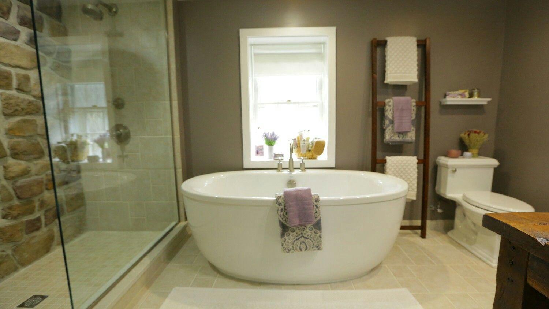 stone house revival on diy network with jeff devlin master bath rh pinterest com