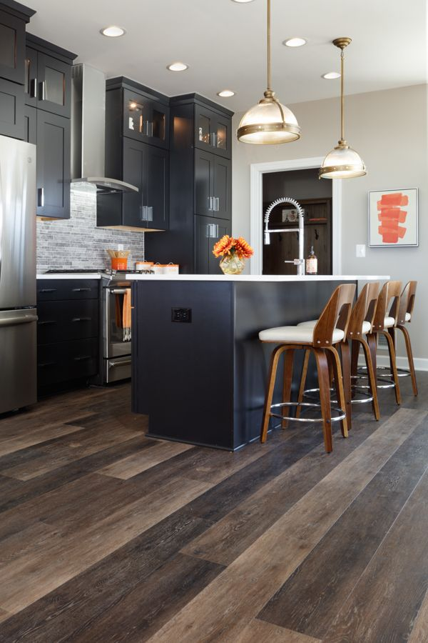Mid Continent Copenhagen cabinets in 'Ebony' extend to the ...