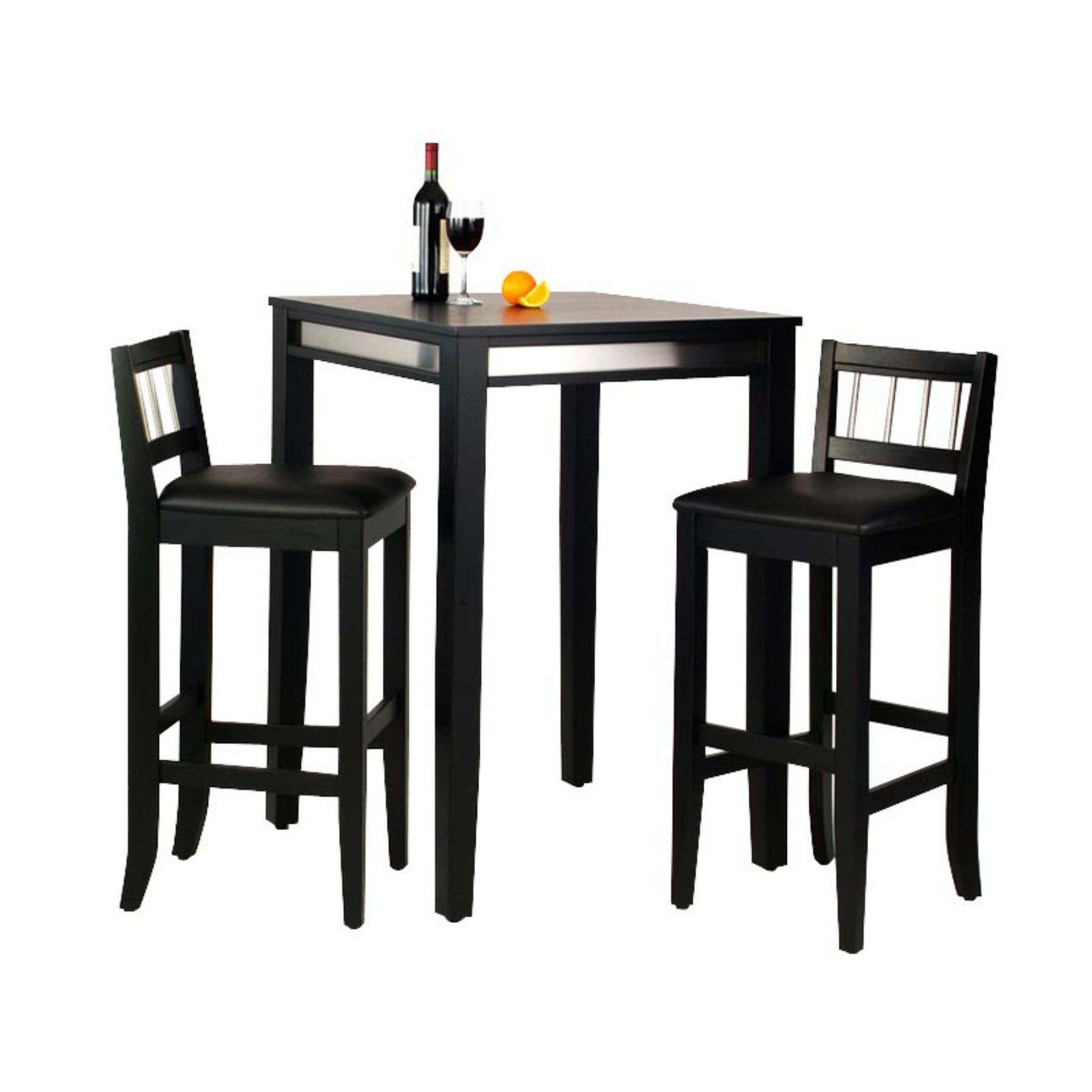 home styles manhattan black pub table set with stainless steel apron rh pinterest at