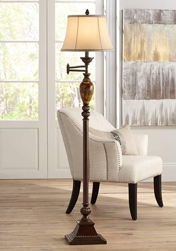 Kathy Ireland Mulholland 61 High Swing Arm Floor Lamp Traditional Floor Lamp Amazon Com Swing Arm Floor Lamp Floor Lamp Floor Lamp Design