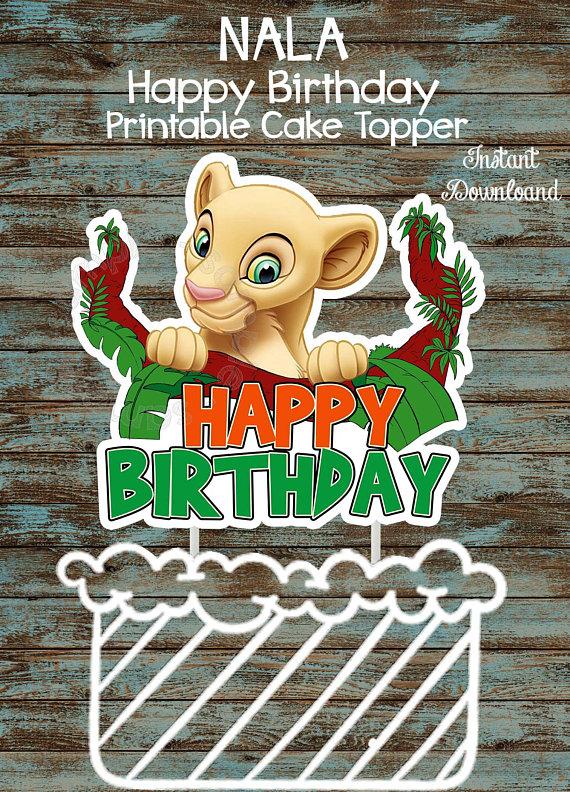 Lion King Birthday Party Decorations Lion King Printable Centerpieces Printable Lion King Cake Topper Lion King Printable Cake topper