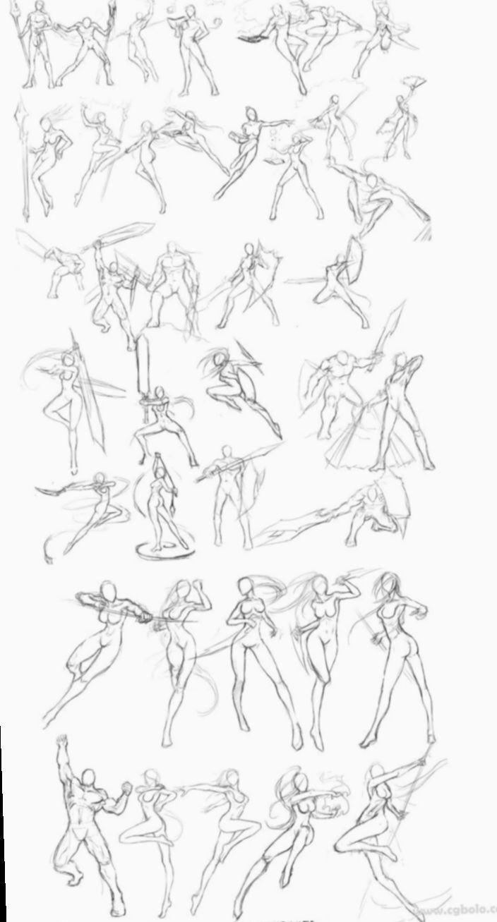 Manga Action Poses : manga, action, poses, Anime, Sketch, Manga, Action, Poses, Reference, Poses,, Drawings,
